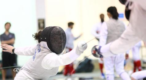 Fencing foils Sacred Heart