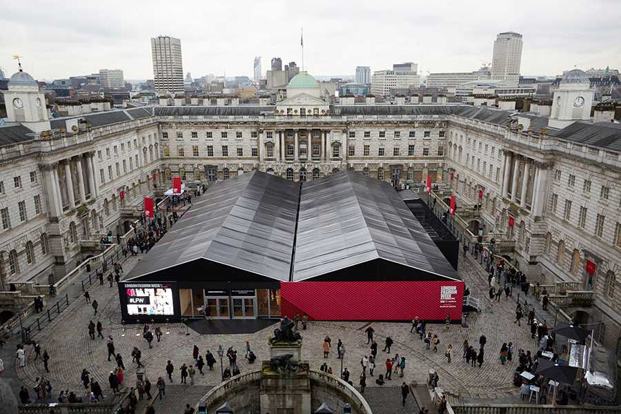 London Fashion Week was held at the Somerset House.