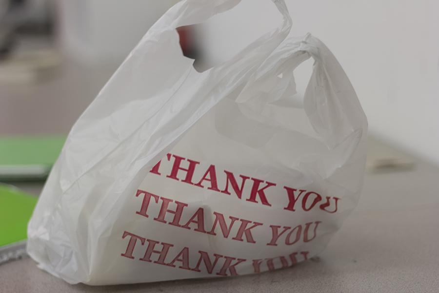 Recycled plastic bags can make for affordable lunch sacks.