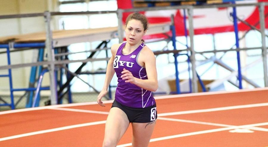 Caroline Spring took fifth in the 500m at the ECAC DIII Indoor Championships.