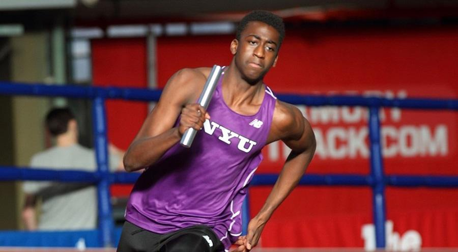 Malcolm Montilus anchored for NYU in the 4x100m and 4x400m.