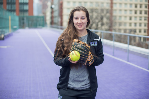 Pitcher shares devotion to softball