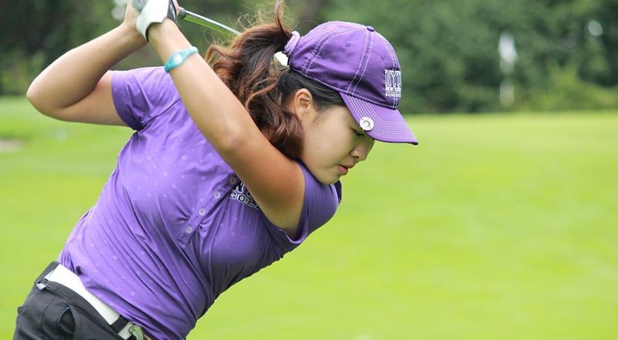 Freshman Lina Kim was NYU's top scorer on the day.
