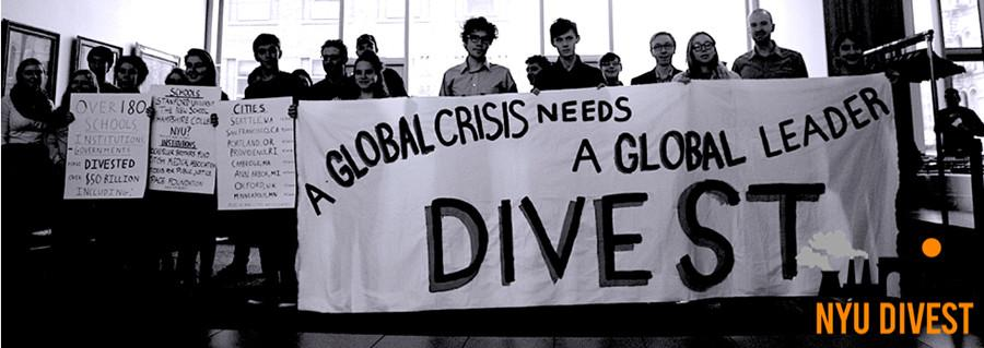 Students%2C+faculty%2C+and+alumni+calling+on+NYU+to+divest+from+the+fossil+fuel+industry.