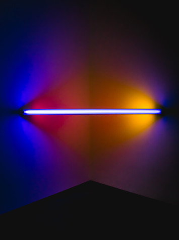 Dan Flavin's exhibit brings new light to light bulbs