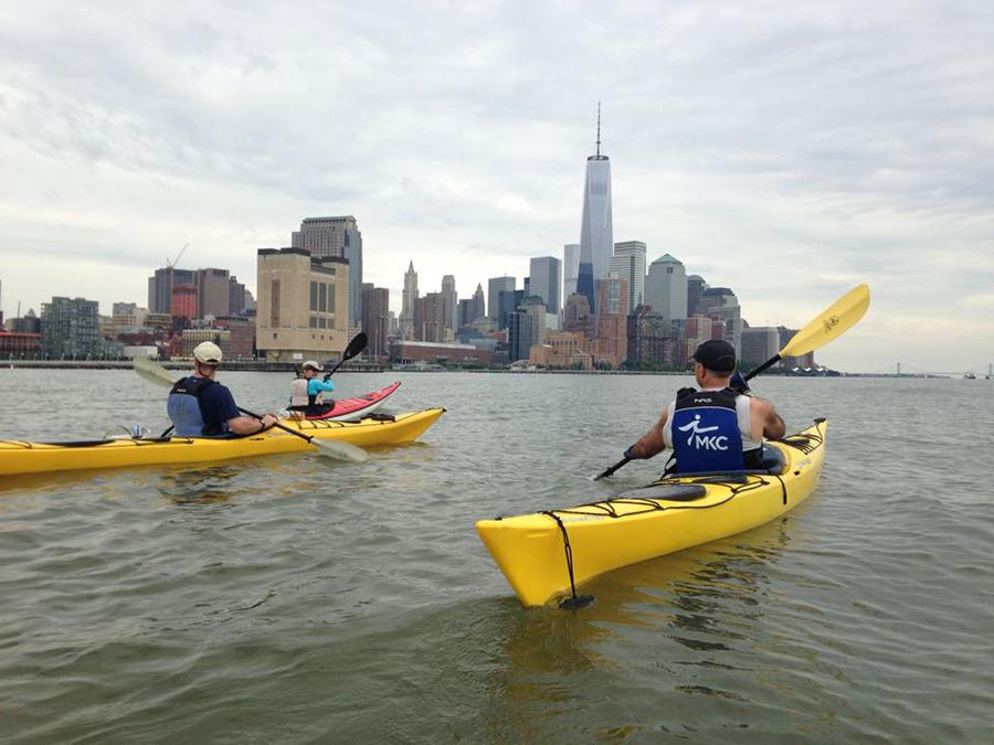 Kayaking on the Hudson allows you to see New York from a whole new perspective.