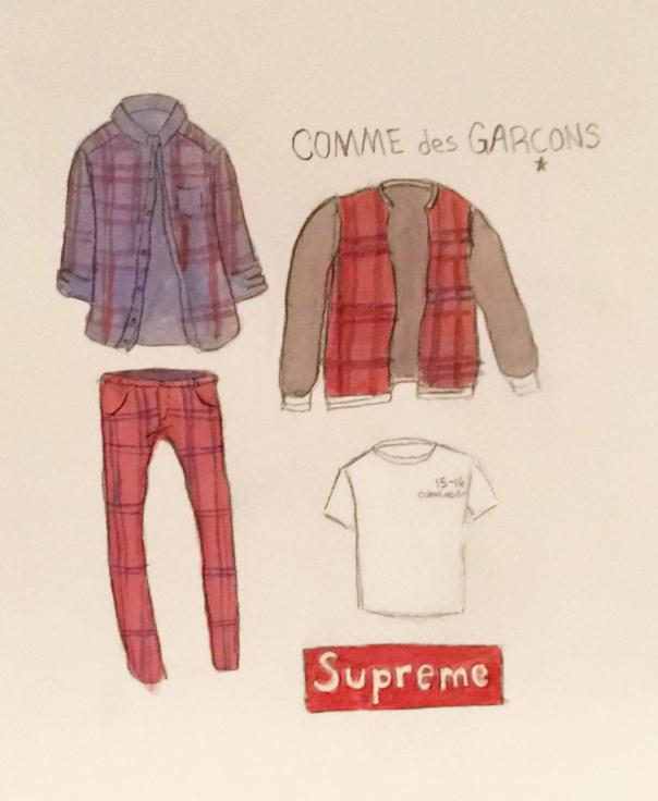 Classic+plaids+are+prevalent+in+the+latest+capsule+collection+by+collaborative+favorites+Supreme+and+Comme+des+Gar%C3%A7ons.