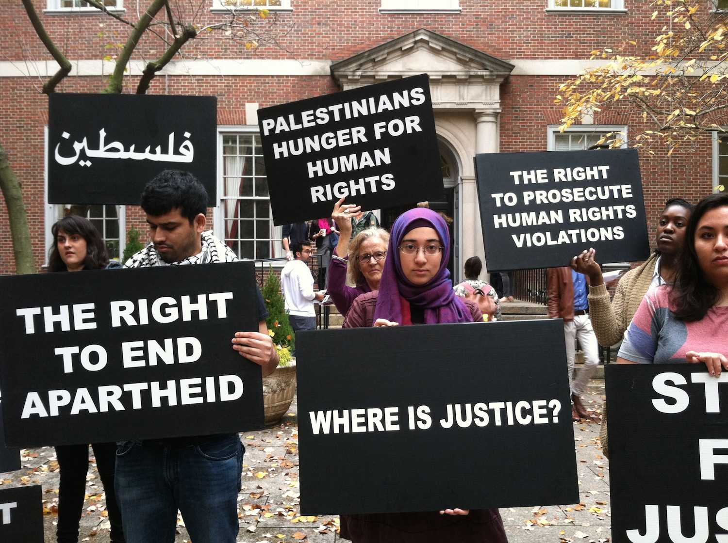 Students vocalized their dismay towards a feeling of anti-Palestinian culture within the NYU Law School on Friday.