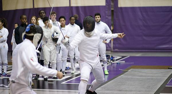 Hans Engel won gold in epee at the NYU Fencing team's season-opener on November 1st, 2015.