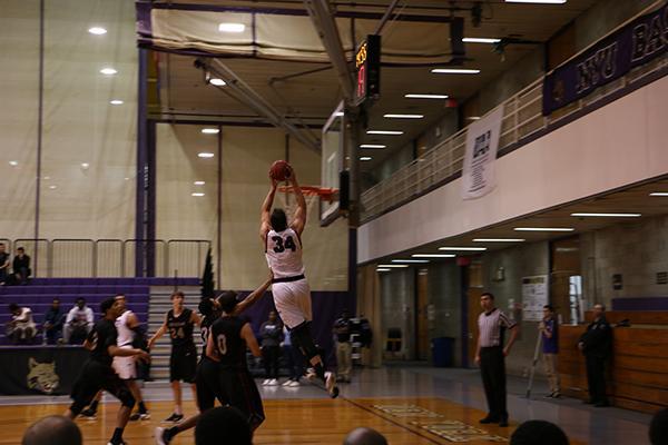 NYU Men's Basketball team plays Arcadia University in the championship game on Sunday November 22nd, 2015.