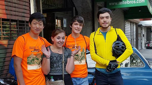 Biking with Friends Founder Jonathan Yuan and members, Lilly Clew, Colin Brett and Maximilian Waldman participated in the 2015 Tour De Bronx on October 25.