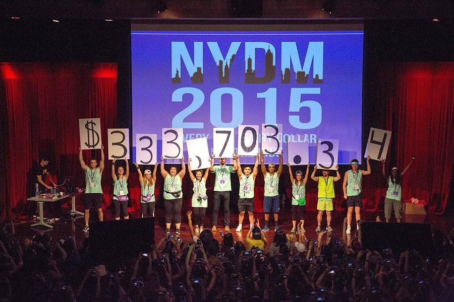NYU%27s+Dance+Marathon+raised+over+%24300+for+the+B%2B+foundation%2C+which+seeks+to+find+a+cure+and+treat+childhood+cancer.+