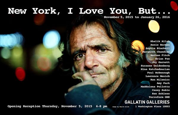 """New York, I Love You, But…"" is an art exhibition on the changing landscape of New York hosted by Gallatin and is on view until Jan. 26 at the Gallatin Galleries in 1 Washington Place."