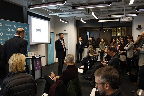 Frank Rimalovski, Director of the Mark and Debra Leslie Entrepreneurs Lab, introduces NYU's newest entrepreneurship initiative, the Blackstone Launchpad.