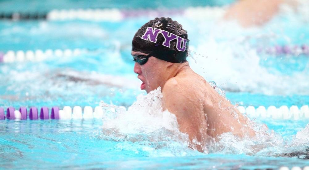 Sophomore Tim Kou got second place in the 200-yard breaststroke.