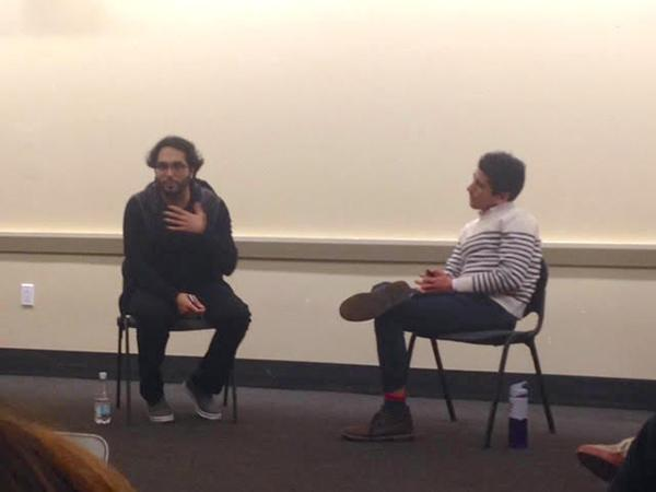Talal Ansari, an editorial assistant at BuzzFeed,came to speak with the NYU Politics Society about his investigation on FBI surveillance of Muslim immigrants.