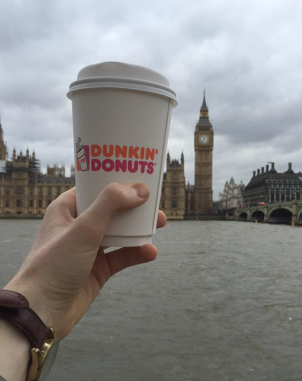 Dunkin Donuts exists across the pond — but it isn't all that different.
