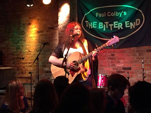 """On February 3, NYU musician Kate Yeager performed her new EP """"Your Girlfriend"""" at The Bitter End."""