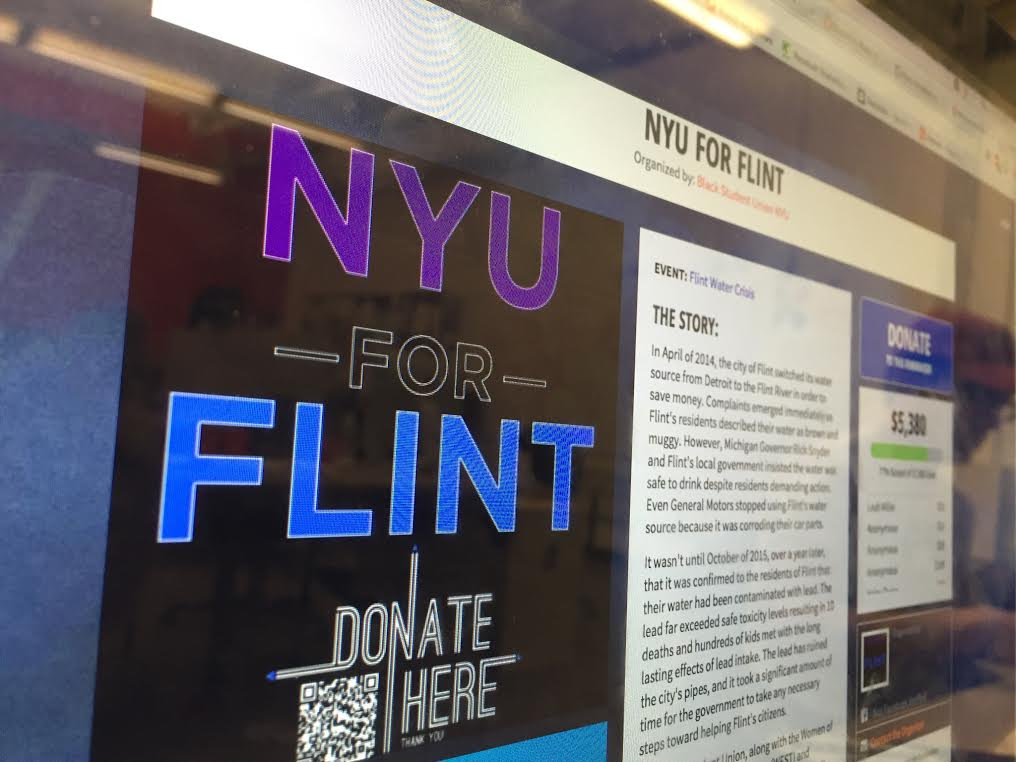 The Black Students Union's NYU for Flint fundraiser has raised more than $5,000 in the last month.
