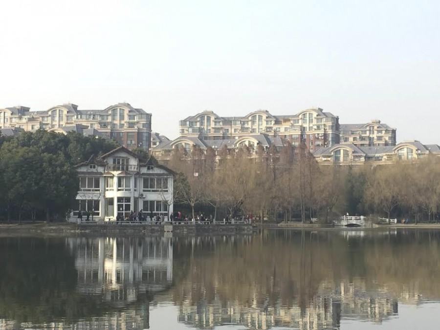 A+view+of+the+lake+at+Jinqiao+Park+in+Shanghai+near+the+Jinqiao+Residence+Hall.+