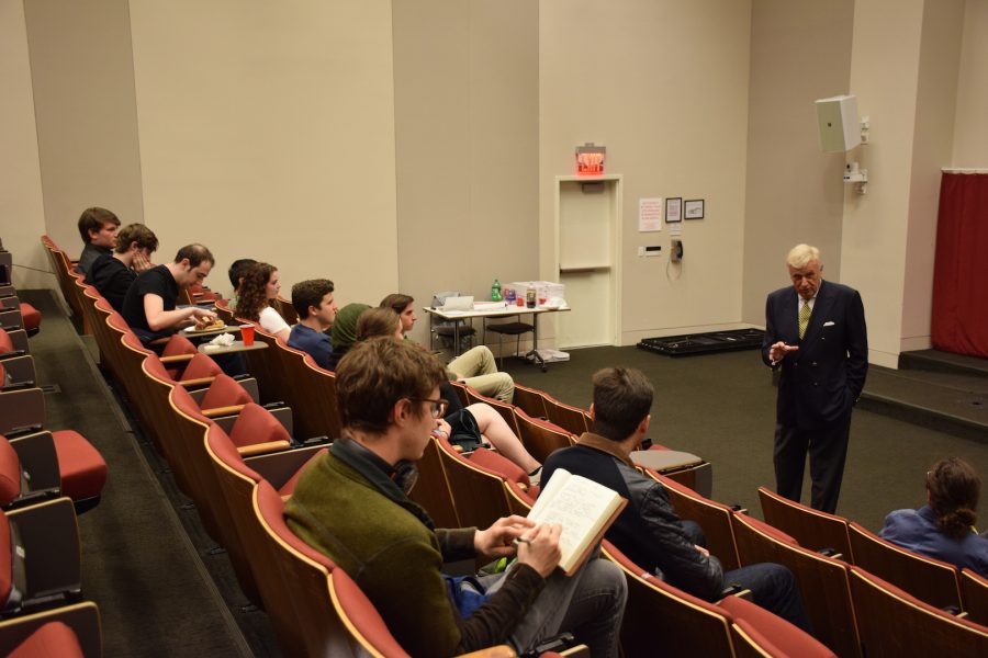 Gallatin+School+of+Individualized+Study+Founder+Herb+London+spoke+with+students+about+Gallatin%27s+history+and+his+views+on+foreign+policy.+