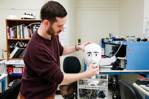 Current Tandon doctoral student, Jared Frank, will soon be known internationally after his participation in the French-American Doctoral Exchange Seminar, FADEx, for his work on a socially interactive robot.