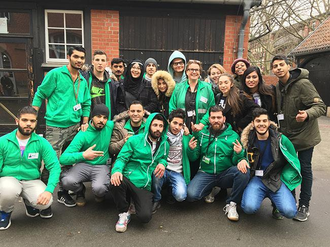 This past spring break, NYU students visited Berlin as part of a service trip to help Syrian refugees.