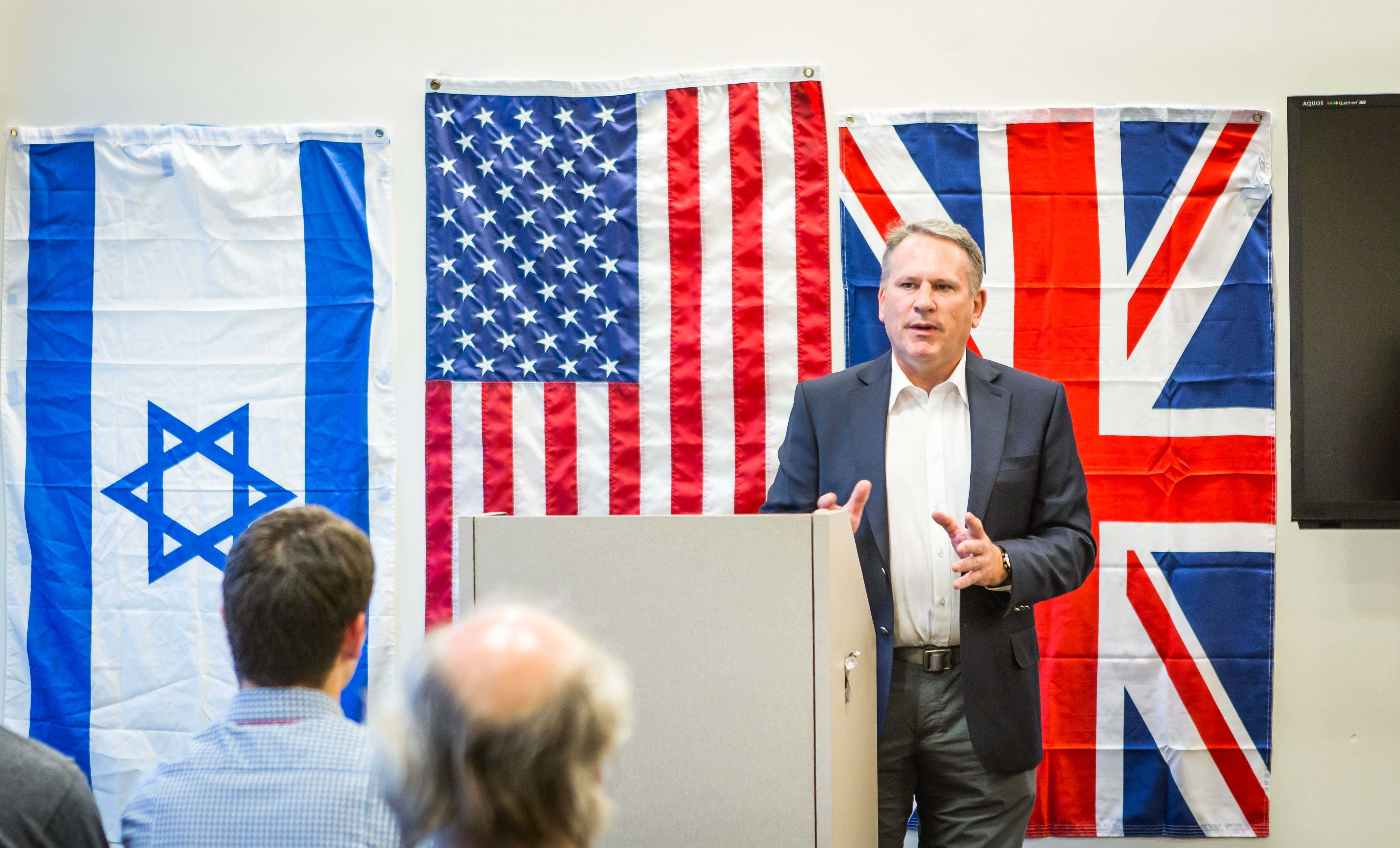 Colonel Richard Kemp speaks passionately to NYU students about the morality of Israel's army.