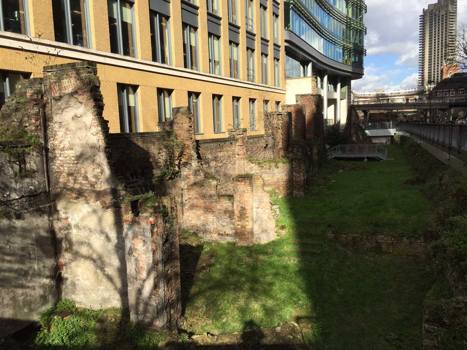 The first Roman Walls in London were built around 200AD.