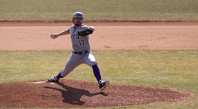 Sophomore pitcher Cameron Serapilio-Frank threw seven shut-out innings in the game against CCNY.