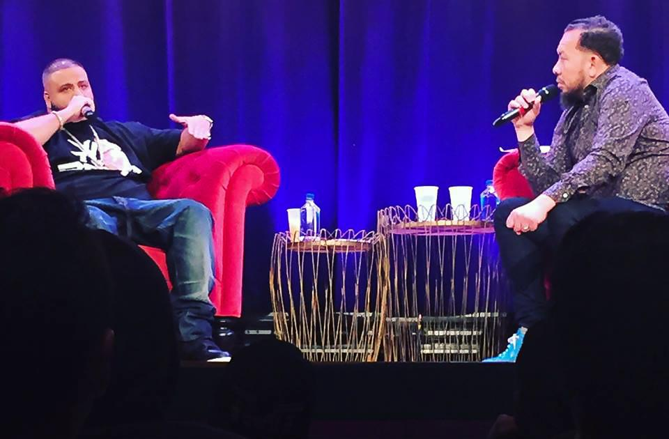 DJ Khaled and Elliott Wilson spoke at the Skirball Center on April 19 as part of the Clive Davis Institute of Recorded Music's CRWN interview series.