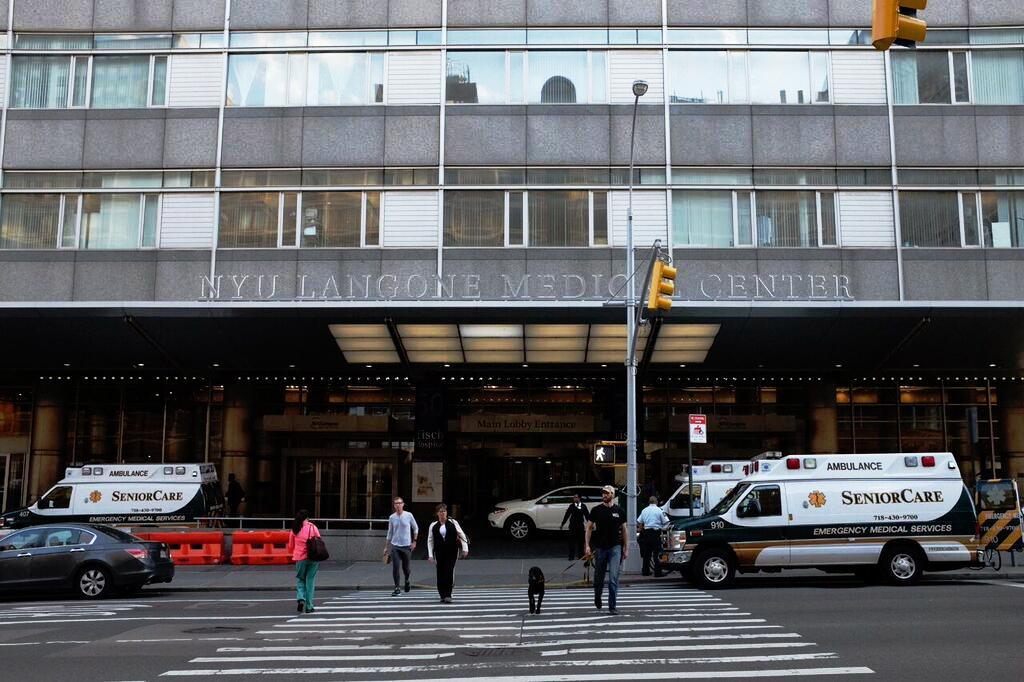 A fire broke out at a construction site located at NYU Langone Medical Center on Wednesday.