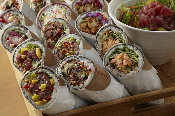Sushirrito is known for inventing the sushi burrito, a sushi roll the size of a burrito designed to be eaten on the go.