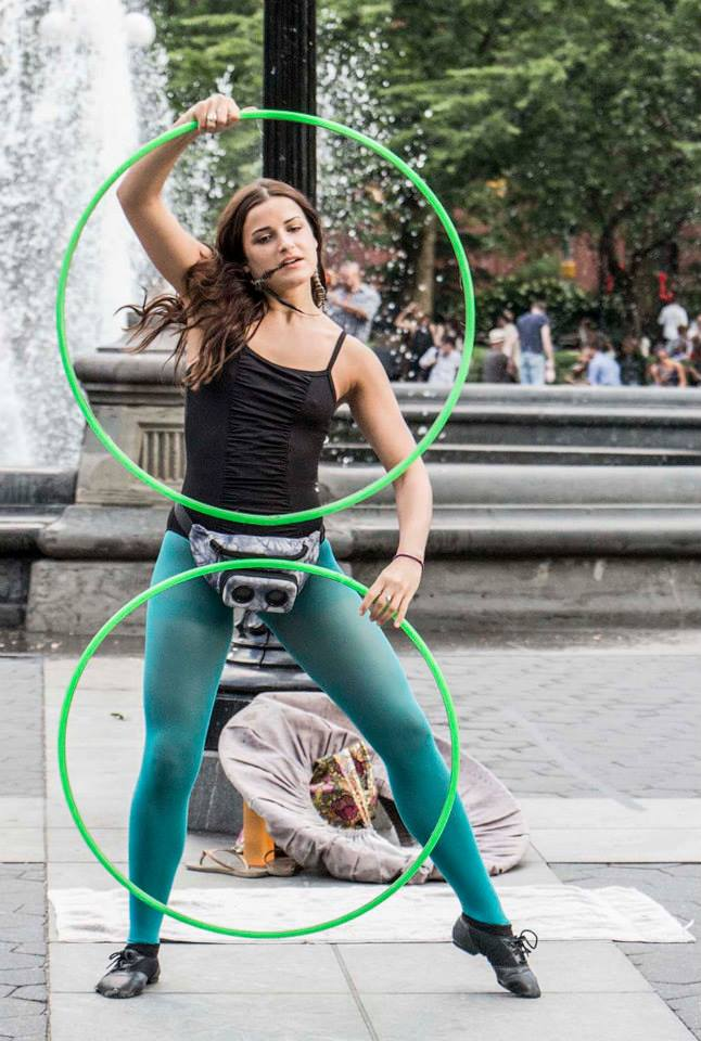 New York City parks are alive with performers of all kind, from musicians and acrobats in Washington Square Park, to the creepy characters of Times Square.