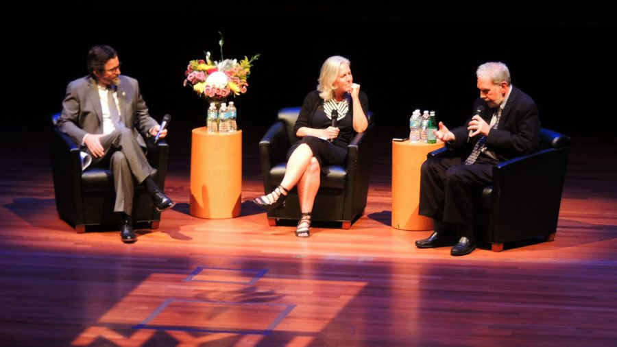 Former+NYU+President+John+Sexton+returned+to+the+university+this+Tuesday+for+a+panel+in+Skirball.