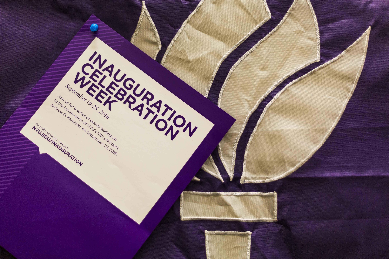 NYU has set up a whole week of events preceding President Hamilton's inauguration.