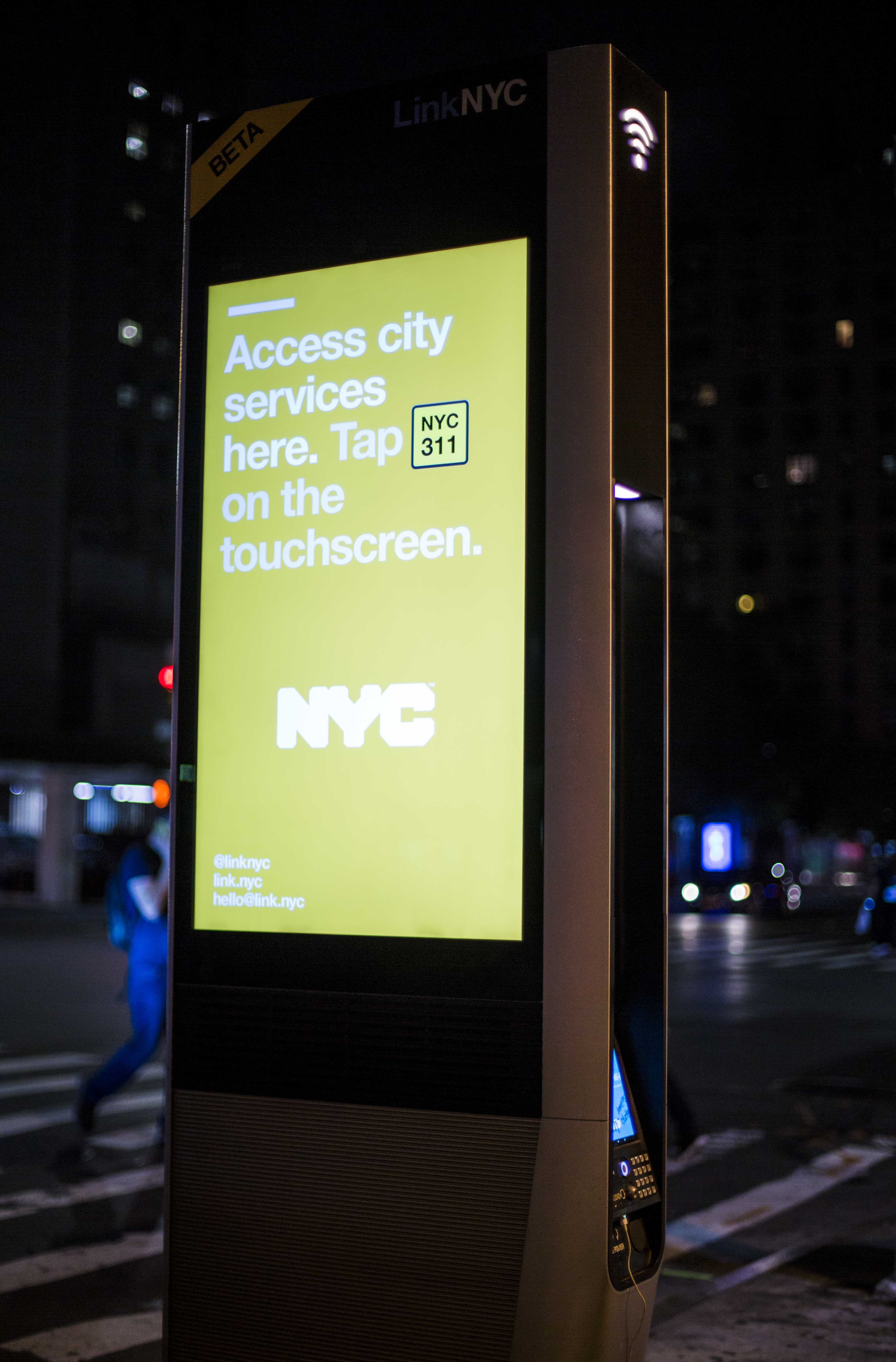 LinkNYC stations have been installed on the street along 3rd Ave to provide city services, however they've been used for more than just quick WiFi access.