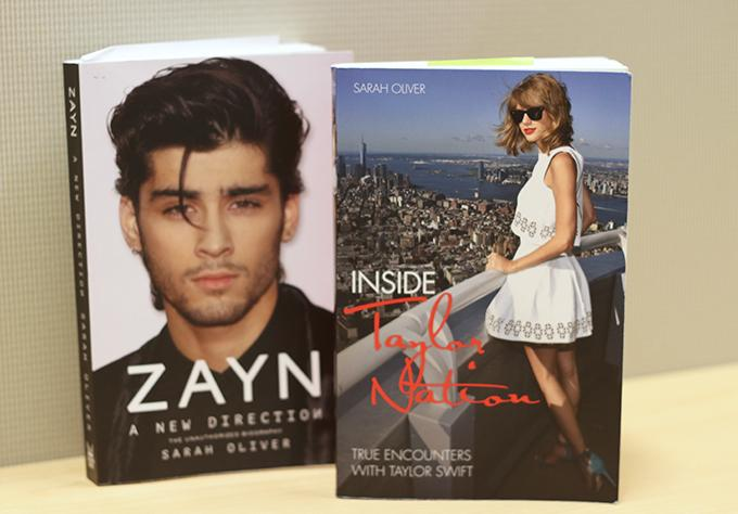 Sarah+Oliver%E2%80%99s+most+recent+works+include+biographies+of+two+young+pop+artists+Zayn+Malik+and+Taylor+Swift.