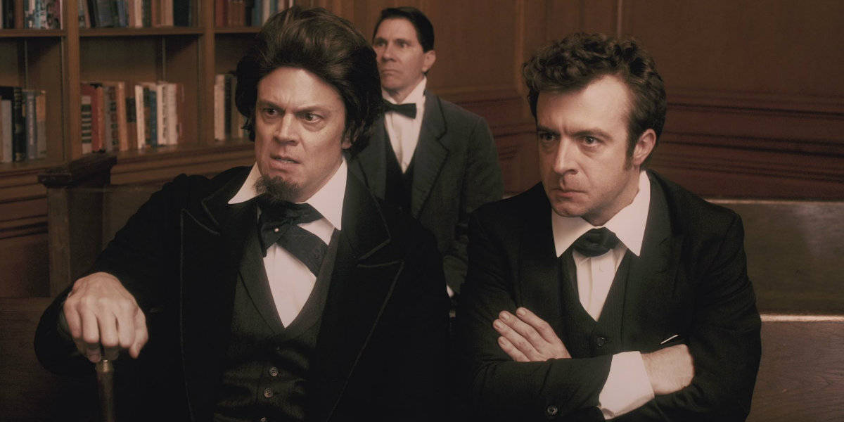 "In Comedy Central's series ""Drunk History,"" drunk comedians retell history as live recreations mimic their tellings."