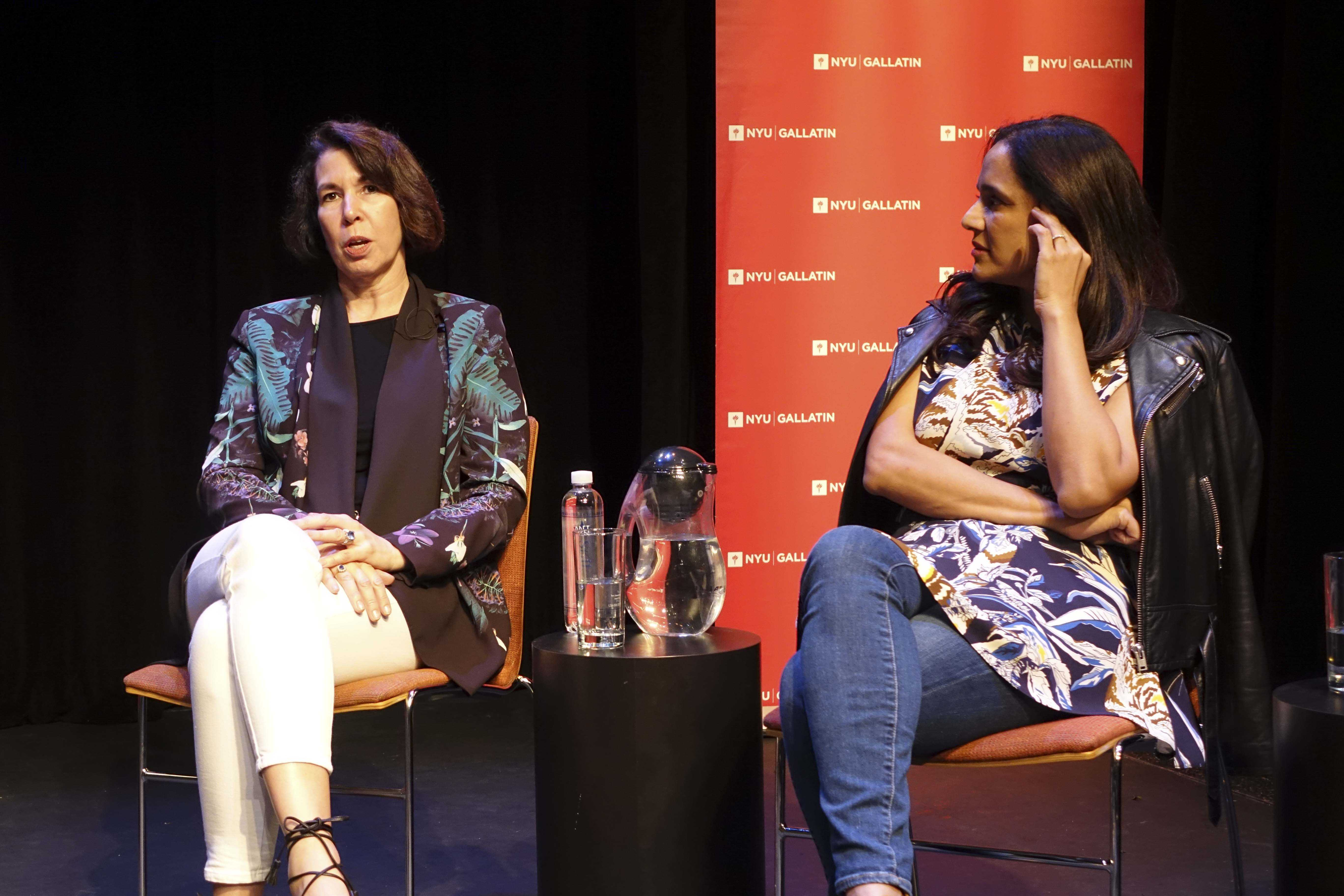 Panelists Ruth Hartman, the CMO of Le Tote, and Jyothi Rao, President of Intermix, shared their advice and experience, discussing the future of the industry.