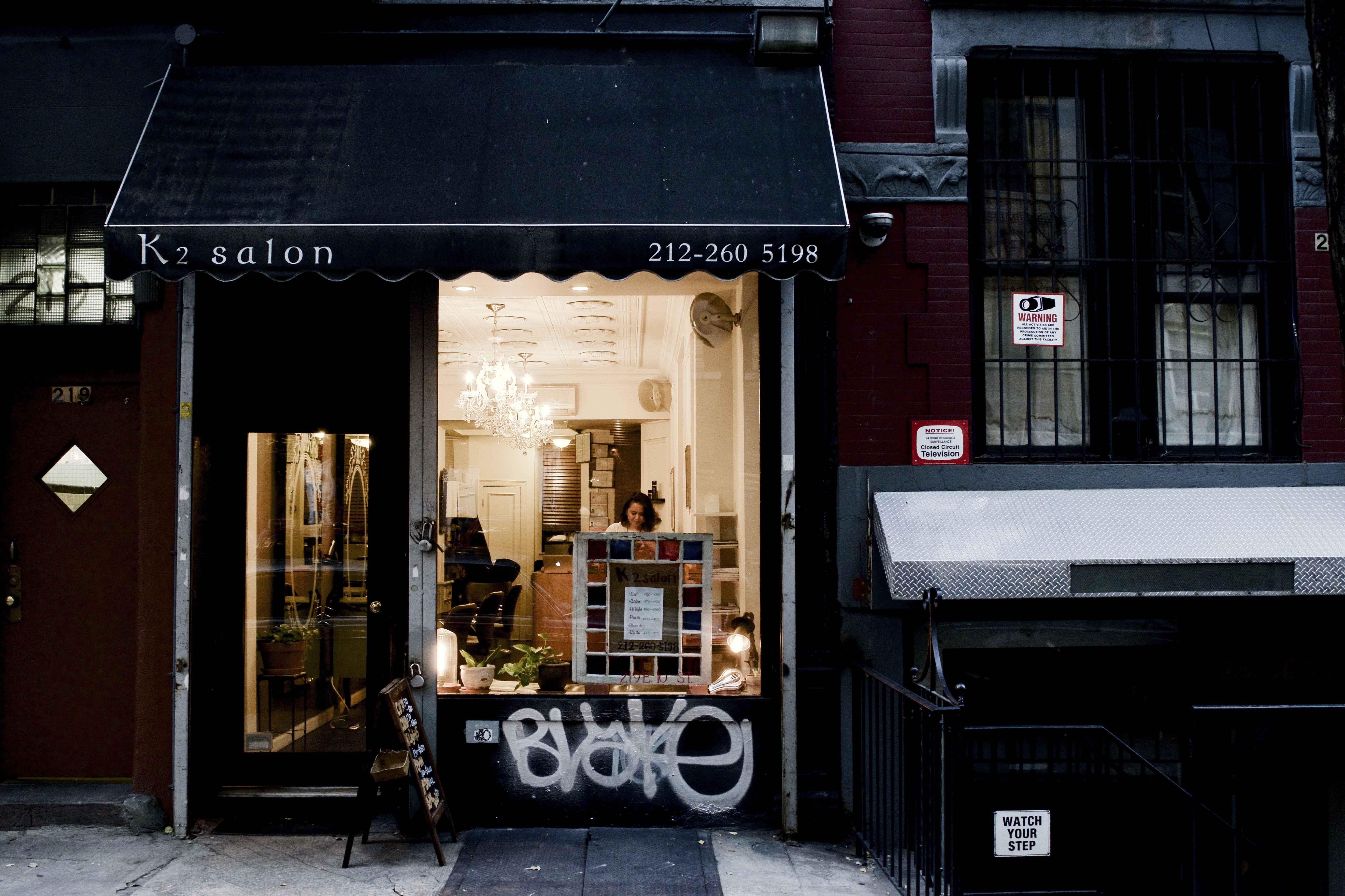 K2 Salon is a small but trendy hair salon in the East Village located at 227 E 10th St.