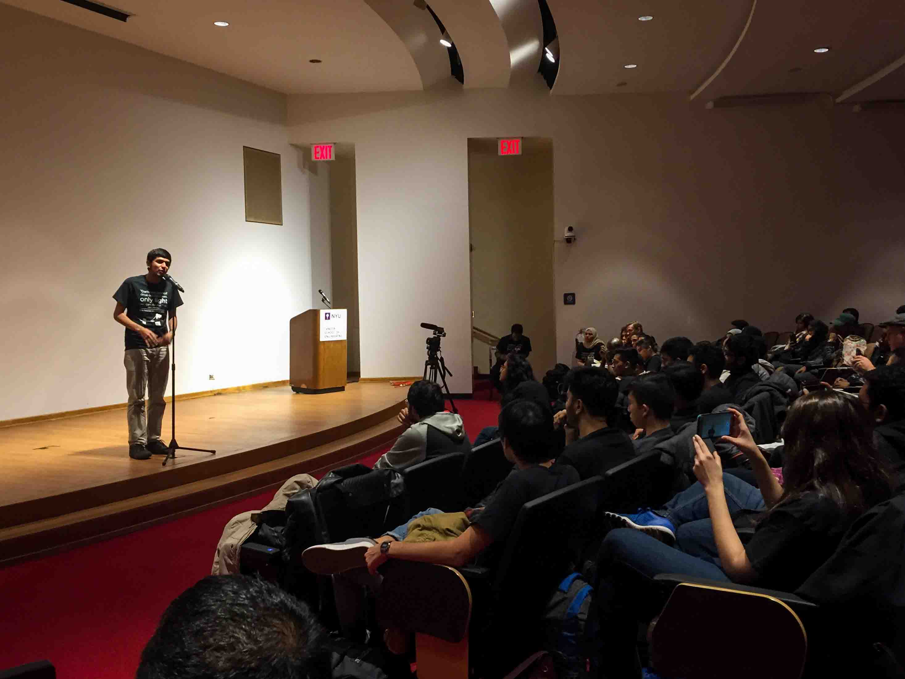 Tandon's Muslim Student Association gathered at the Brooklyn campus to speak out against intolerance on campus.