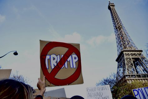 French Citizens Stand in Solidarity Against Trump