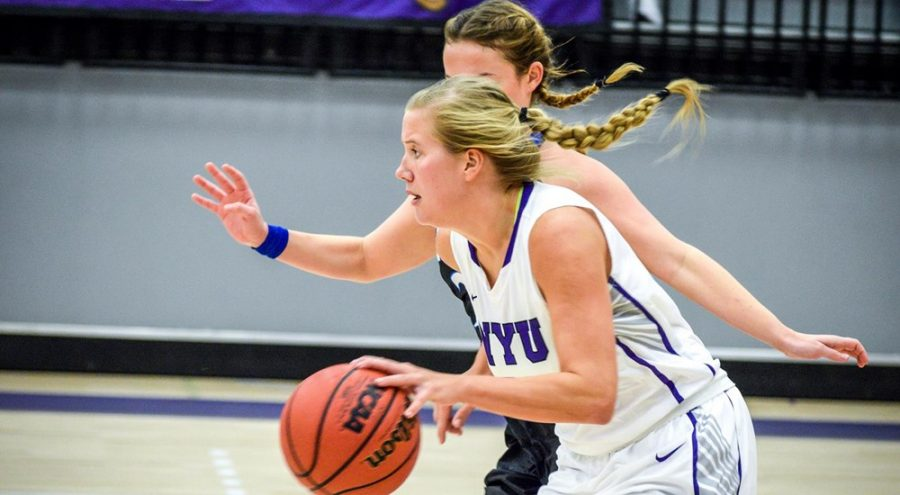 Kaitlyn+Read+was+NYU%E2%80%99s+top+scorer+in+its+victory+against+New+Paltz+on+Tuesday.