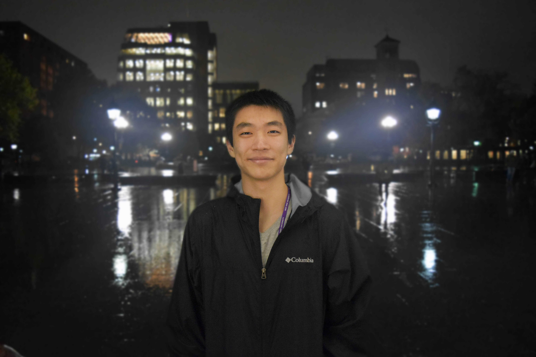 Steinhardt freshman Oliver Wang tutors at University Neighborhood Middle School in Brooklyn.
