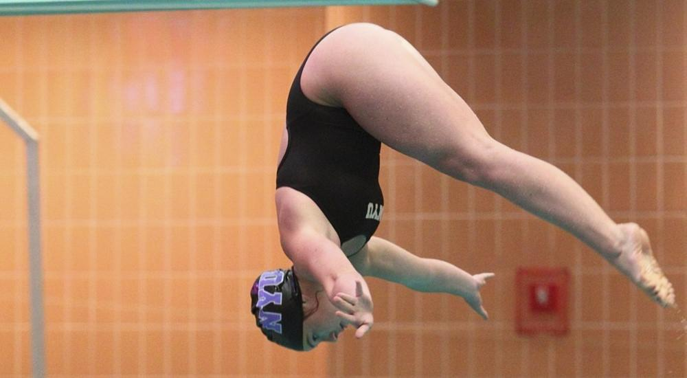 Senior Nia Sorgente finished in second place in both her women's diving events on Saturday.