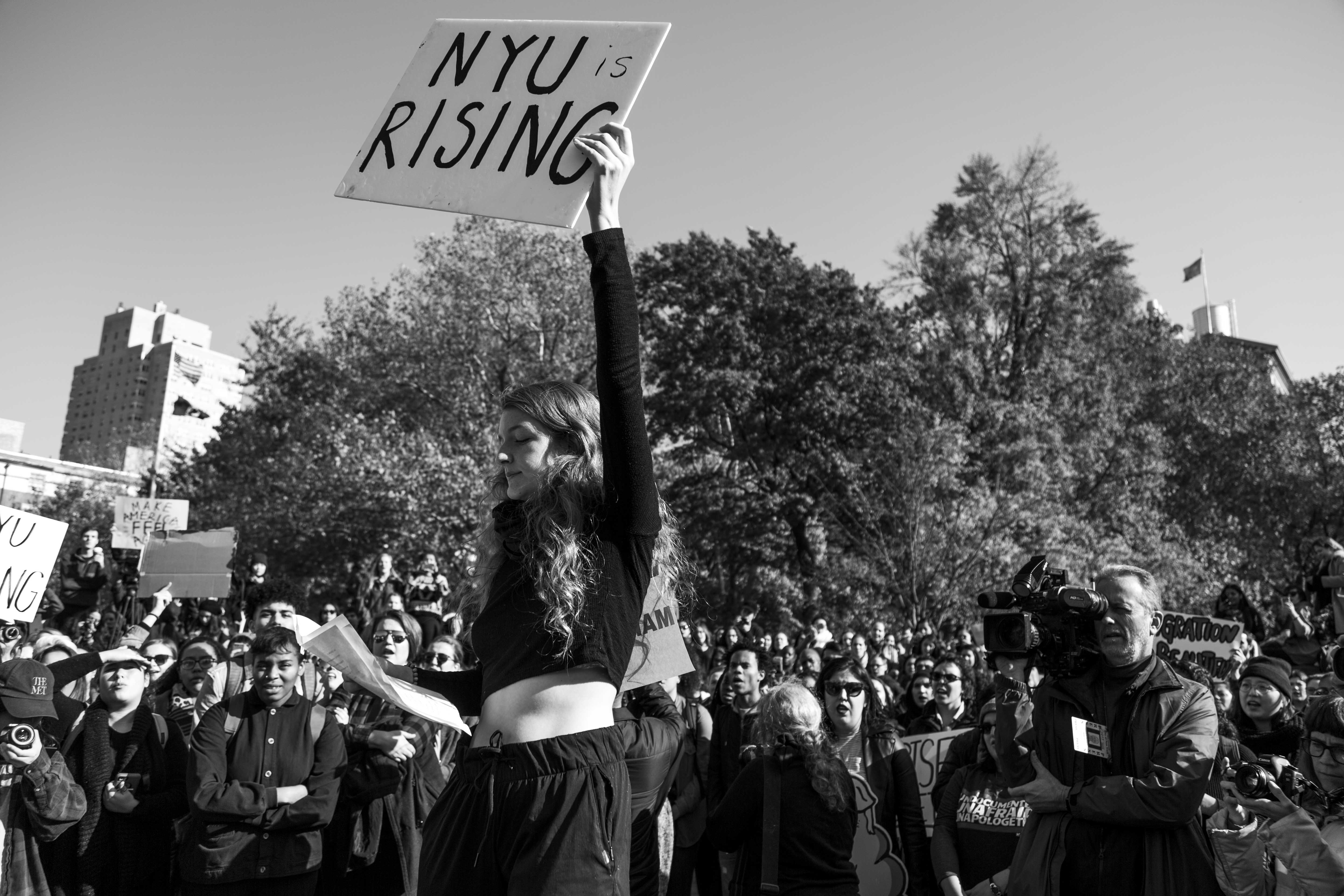 Though there were numerous protests in the weeks following the election, demonstrations have since have abated.