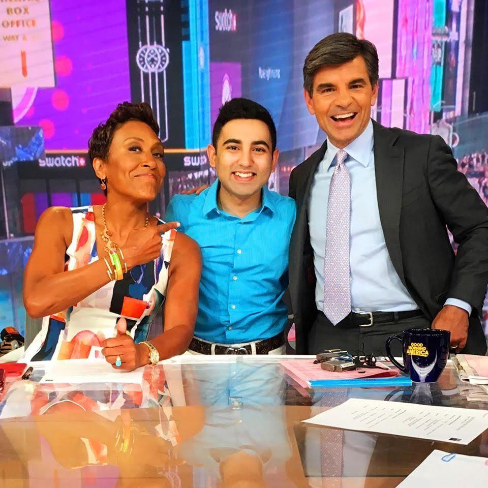 Jain at his internship with Good Morning America.