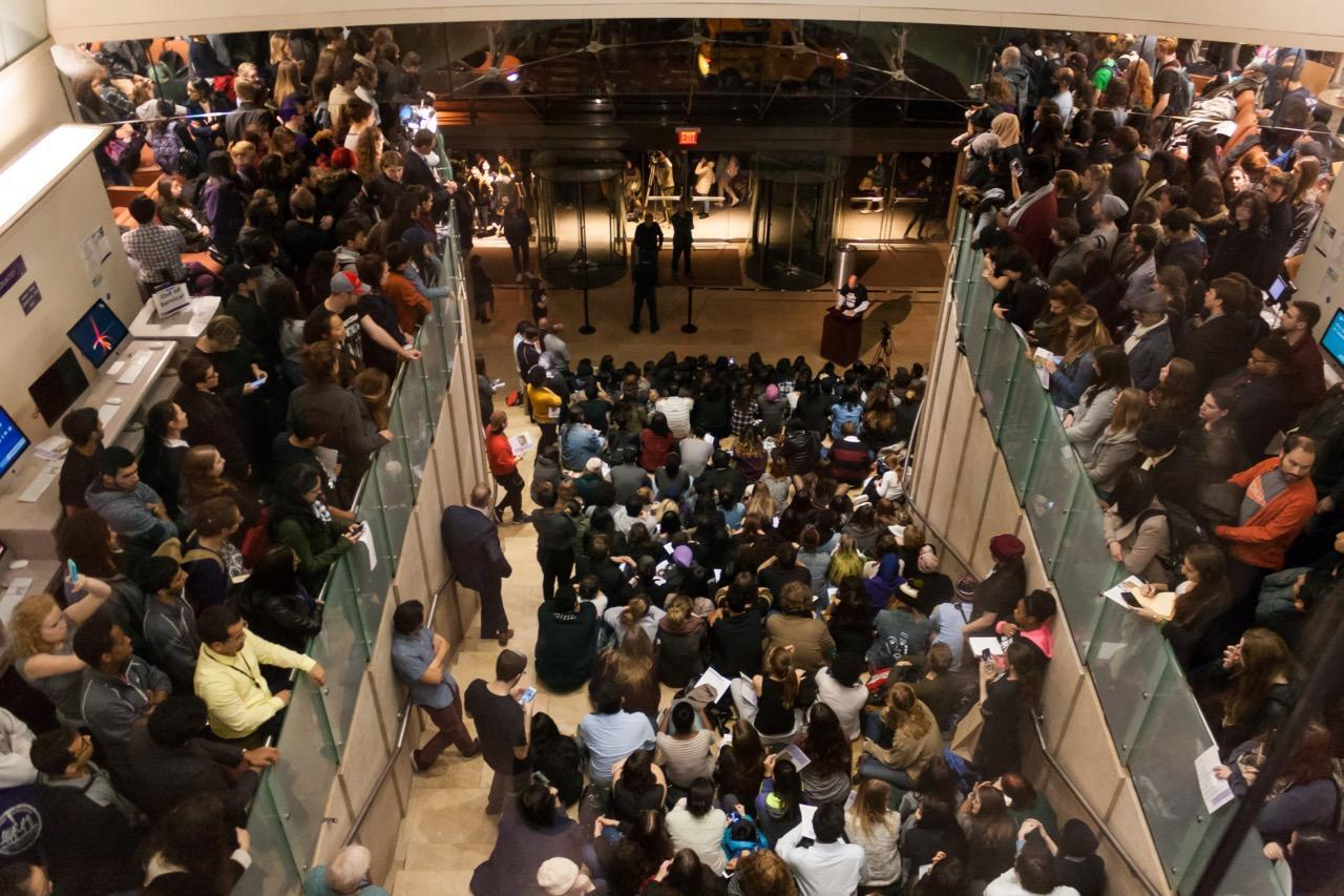 Hundreds gathered at the Muslim Students Association's Nov. 10 Rise Against Hate Rally, in Kimmel.