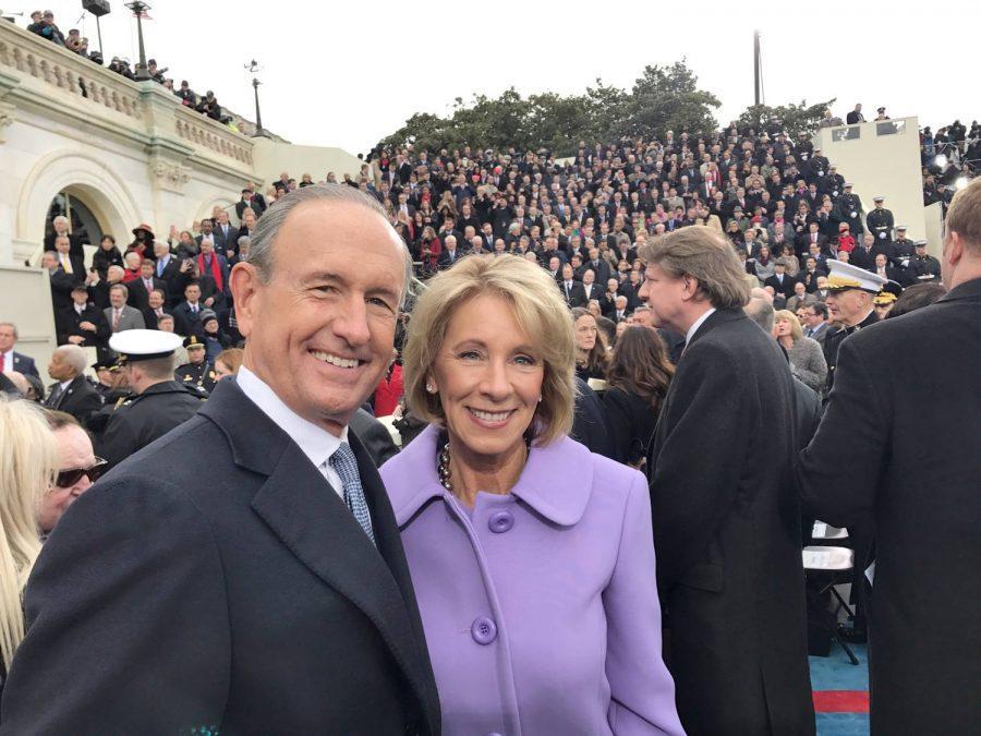 Betsy+DeVos+%28center%29+at+Donald+Trump%E2%80%99s+presidential+inauguration.